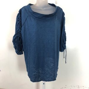 Slouch fit Free People woman's Navy tee shirt | M